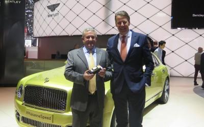 Egidio Reali with Stefan Sielaff, director of design of Bentley.