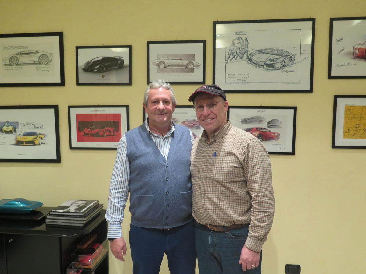 MRコレクションモデル工場で(左側)エジディオレアーリとトム・マクダウェル。