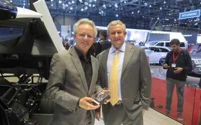 Egidio Reali, MR Collection CEO and founder, with Horacio Pagani, CEO and designer of Pagani Huayra BC.
